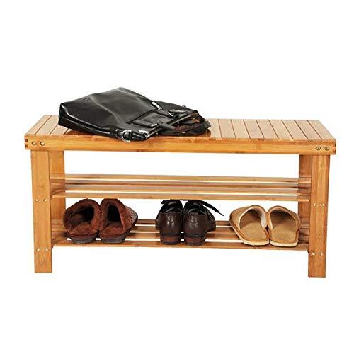 YTT - Banco de bambú para zapatos (90 x 28 x 45 cm)