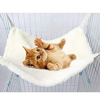 IEUUMLER Soft Hamac Lit Matelas de Cage pour Chat Couverture Lit Suspendue Comfortable Sleeping Mat Matelas de Cage IE145 (S (38x33cm), White)
