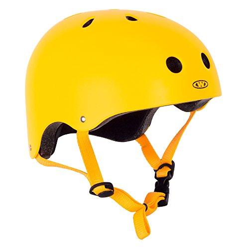 WORKER Skaterhelm Neonik gelb Gr. 49-53, 53-56, 56-59, 59-62 cm verstellbar (M 56-59 cm)