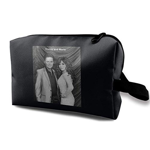 Hdadwy Donny and Marie Osmond Poster Multi-Functional Cosmetic Bag Storage Travel Makeup Bag