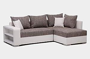 Convertible en lit avec une surface plane de 195x145 cm Assise et banquette en mousse pour un confort optimal Tissu en microfibre doux au toucher pour un confort durable Espace de stockage