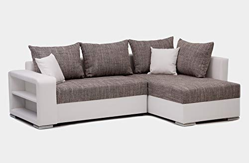 Collection AB Houston Polsterecke, Ecksofa, Schlafsofa mit Bettkasten, Materialmix...