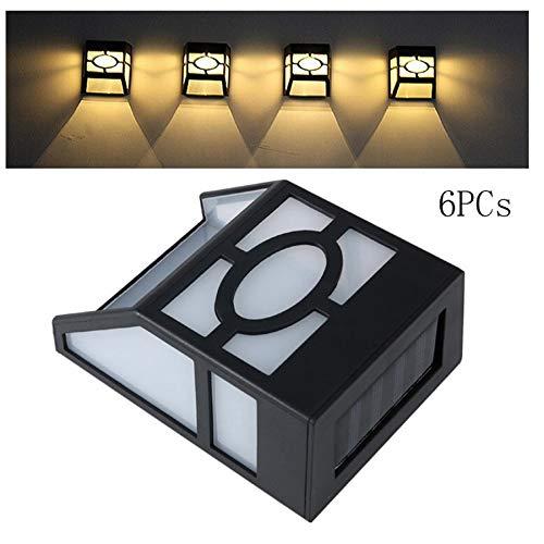 MerryDate Lampe Solaire Extérieur Multicolore 6 Pack[Version à économie D'énergie], 2 led éclairage Solaire Extérieur étanche Sans Fil Spot Solaire Lumière Puissant Sécurité pour Jardin. (z-Blanc)
