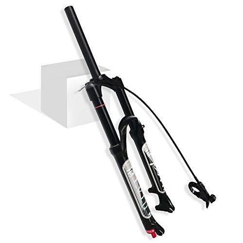 LvTu Mountain Bike Forcella Anteriore Sospensione Pneumatica da Bici MTB 26 27,5 29 Pollici Viaggio 140mm Regolazione del Ritorno Ultraleggero Forcella Biciclette QR 9mm Nero