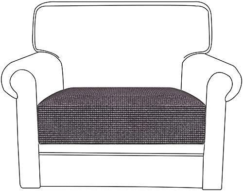 HJYSQX Funda de cojín para sofá, funda elástica para asiento de sofá, tela de poliéster, elástica, protector para sofá de cojín de sofá, protectores de muebles (gris, 1 asiento)