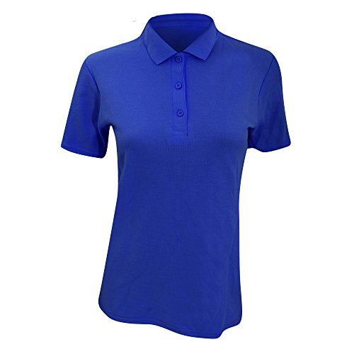 Anvil Damen Polo Shirt Double Pique, Semi-Fitted (Large) (Royalblau)