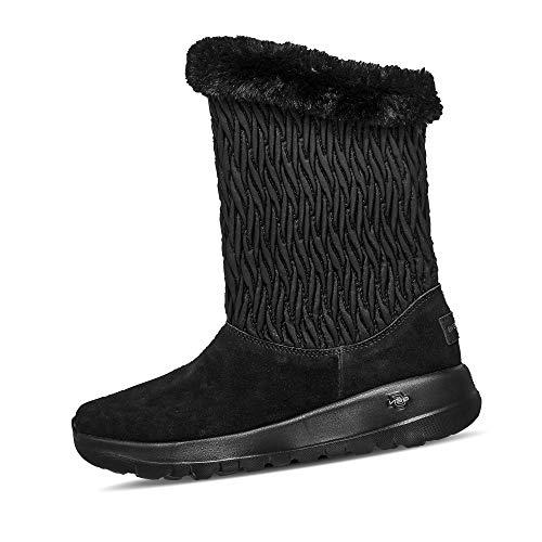 Skechers Damen 15519 On The Go Joy - Snow Bunny Boots Veloursleder Uni klassisch, Groesse 39, schwarz