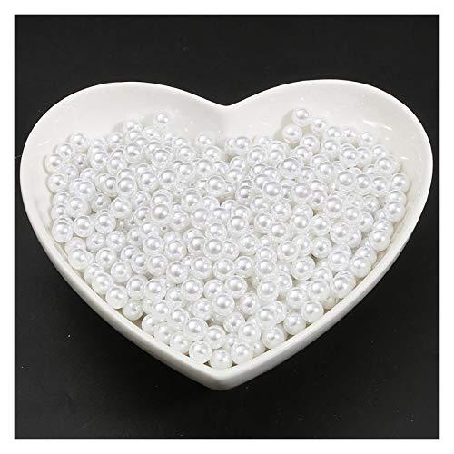 MURUI QZX1 2/3/4/6/6/12/12/14/16/18/18 mm Color Blanco Sin Orificio ABS imitación Perla Perlas Perlas Sueltas para DIY Craft Scrapbook Decoration Yc0416 (Size : 18mm 10)