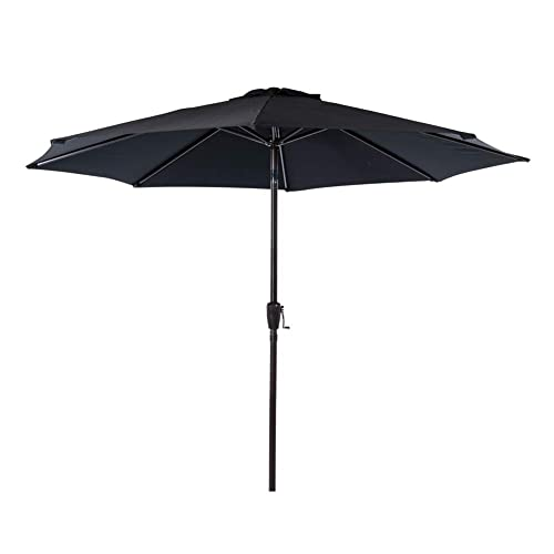 Sundale Outdoor 9 Feet Aluminum Market Umbrella Table Umbrella with Crank and Auto Tilt for Patio