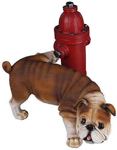 Statue Soprammobile Statuine Decorazione Statua Bulldog Inglese Adorabile Bulldog Statua Decorativa Figurina Scultura Cane Andato Male Pipì Statua Bulldog Inglese