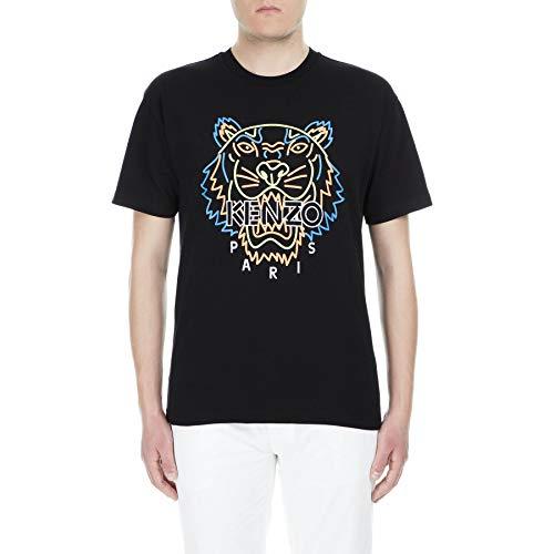 Kenzo Camiseta de Tigre Cara Negra Black Small