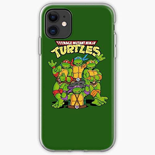 TIINTEXBA Compatible with iPhone 12/12 PRO Max 12 Mini 11 PRO Max SE X XS Max XR 8 7 6 6s Plus Case Turtle Ninja 80S Cartoon Teenage Mutant Tartarughe Outatime_Culture Phone Cases Cover
