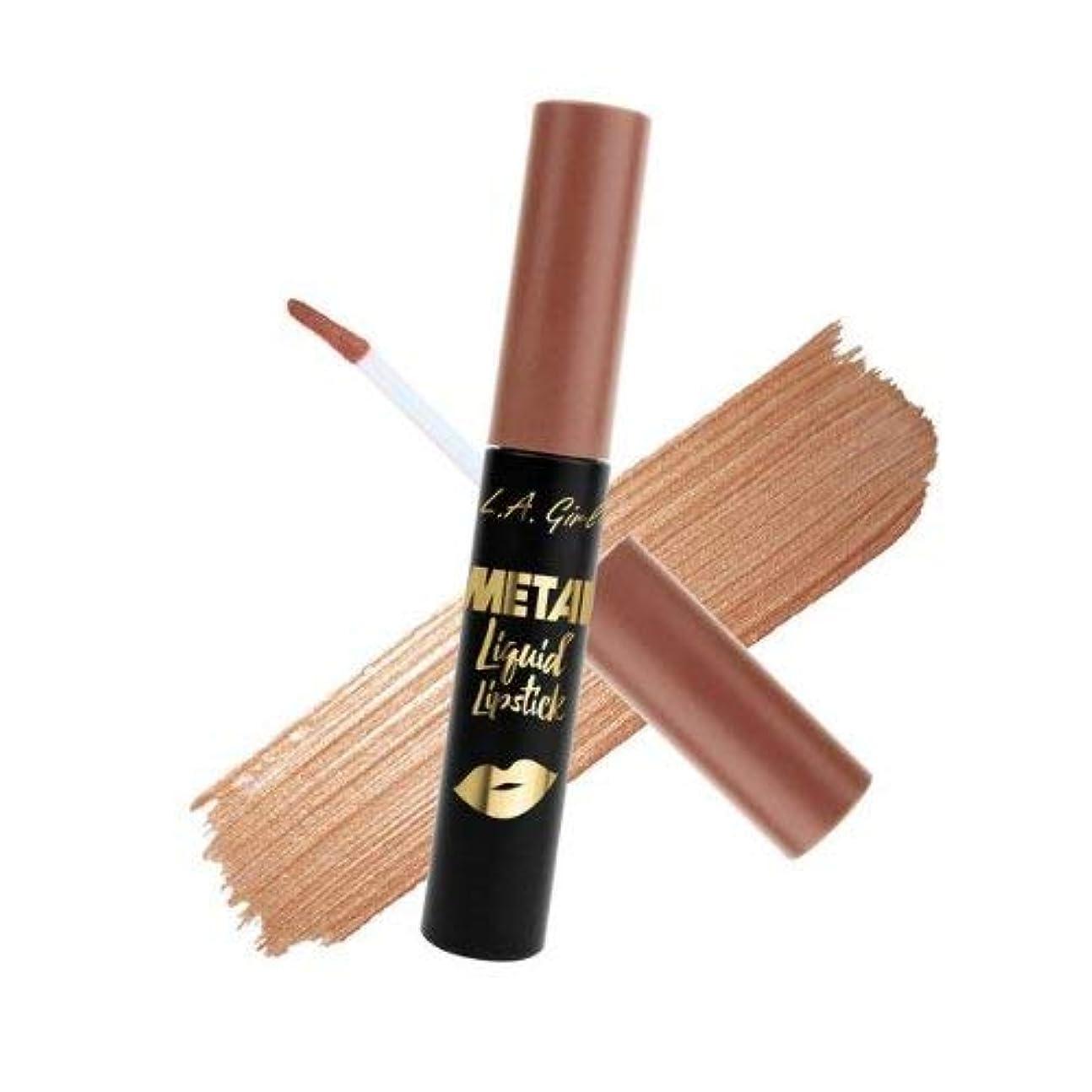 おしゃれな実行リットルL.A. GIRL Metal Liquid Lipstick - Champagne (並行輸入品)