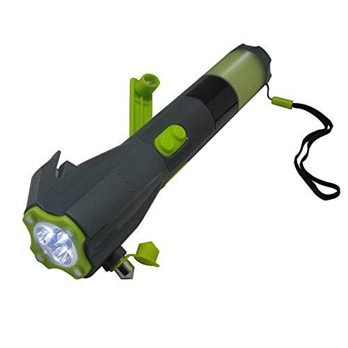 Linterna de Martillo de Seguridad multifunción Ocho en uno Suministros para automóviles Instrumento de Emergencia para automóviles Linterna-Verde Oscuro_27.5 * 9.5 * 5.8