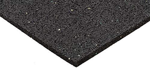 Systafex® Unterlegmatte Bautenschutzmatte Gummimatte Bodenschutzmatte für Fitnessgeräte Bodenmatte 3mm 125x60 cm