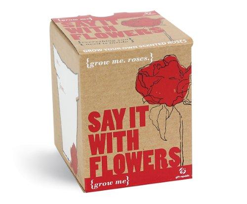 Mags - Coffret Cadeau Saint-Valentin - Grow Me, Say it with Flowers - Graines pour Roses (à faire pousser soi-même)