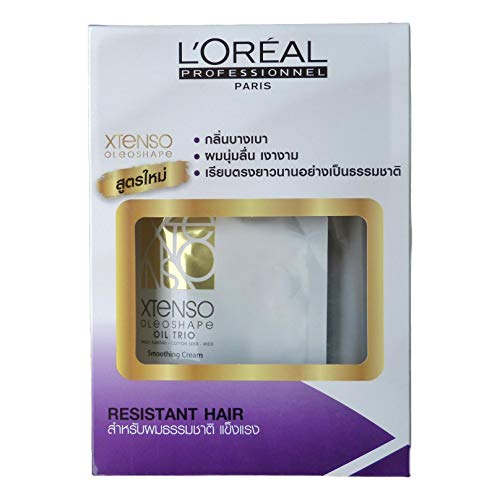 L'Oreal Paris X-tenso Moisturist Hair Straightener Set for Natural Resistant Hair 400 + 400 milliliter