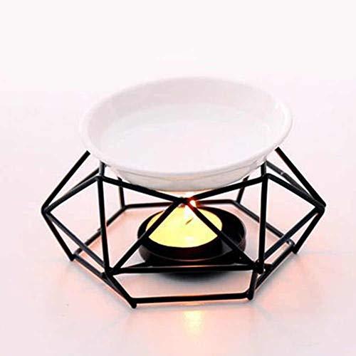 Geometrischer Eisen Kerzenhalter Ofen, Keramik Ätherisches Öl Aroma Brenner Kerzenhalter Home Office Dekoration Einfaches Design