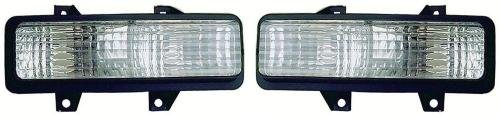 Go-Parts - PAIR/SET - for 1989 - 1991 Chevrolet R3500 Parking Lights Assembly / Lens Cover - Left & Right (Driver & Passenger) Side GM2521130 GM2520130 5975228 5975227 Replacement 1990