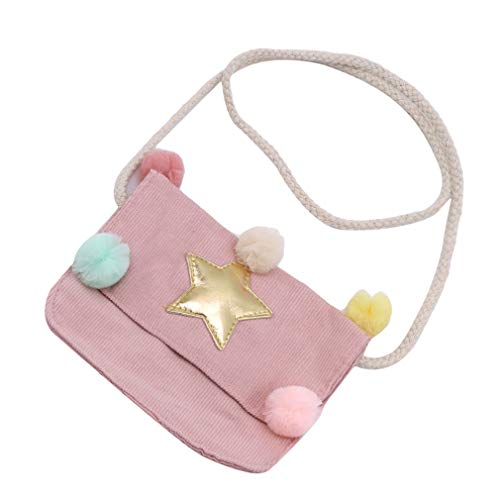 Hengxing niedliche Kindertasche Candy Color Schultertasche Mini Crossbody Bag, Rose, As dercription