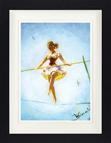 1art1 Wilhelm Simmler - Tanz Auf Dem Hochseil, 1914 Gerahmtes Bild Mit Edlem Passepartout   Wand-Bilder   Kunstdruck Poster Im Bilderrahmen 40 x 30 cm