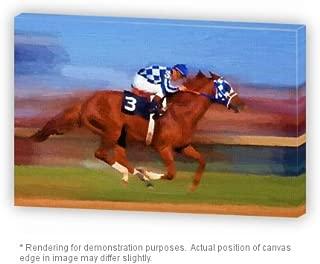 Premium Gallery Thick Canvas Wrap Print 20 X 30 Secretariat Wins Triple Crown Oil Painting
