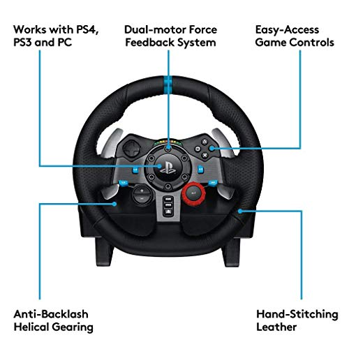 Logitech G29 Driving Force Race Wheel [Compatible with PS3/PS4]