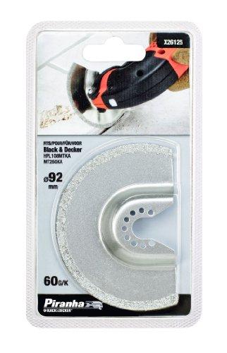Piranha X26125 Hartmetall-Mörtelraspel Durchmesser 92 mm, 2 mm dick, HM-Beschichtung Körnung 60