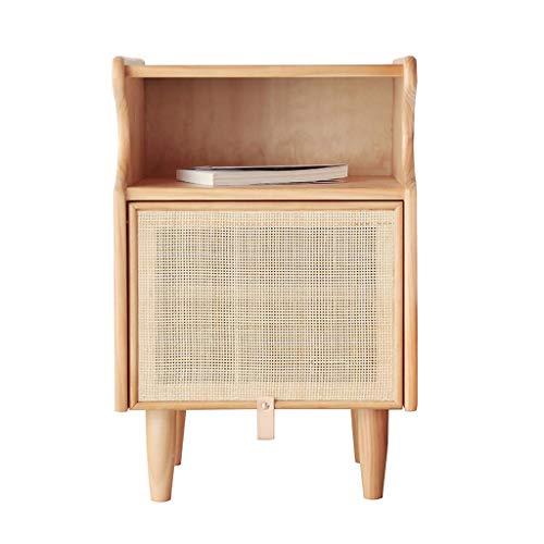 Nachttische Japanischer kreativer Nachttisch Nacht Holz Rattan Nachttisch Einfache moderner Lagerschrank Nachtschrank Nach
