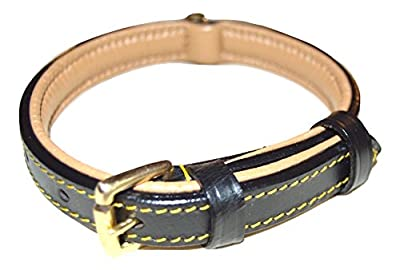 Luxury Real Leather Padded Collar