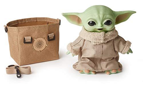 Star Wars The Child - Figura de bebé Yoda de 11 Pulgadas de The Mandalorian, Personaje de Peluche Coleccionable con Bolsa de Transporte para Fans de películas a Partir de 3 años