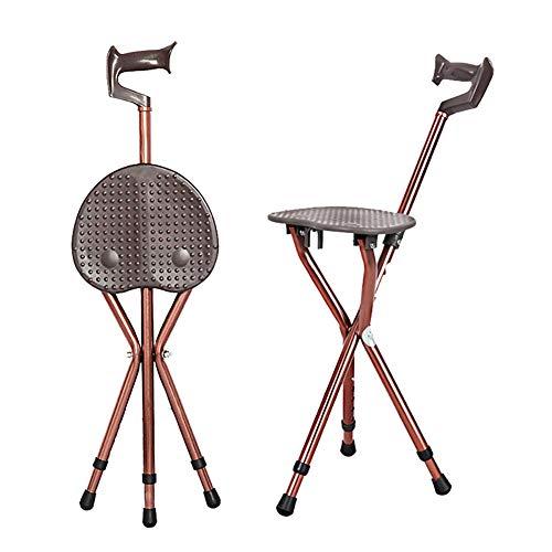 Walking Stick aluminium stoel voor ouderen, inklapbaar met zitting