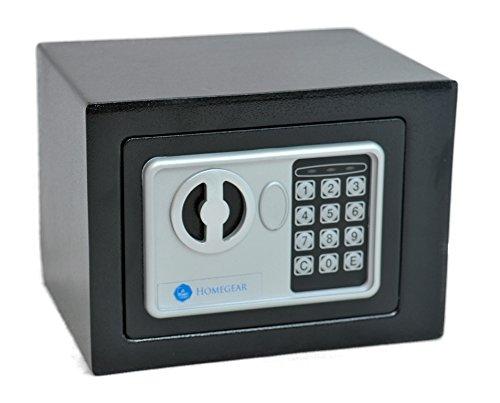 Homegear Small 0.23CF Electronic Safe Gun Money Passport Home Hotel Office Wall Cabinet