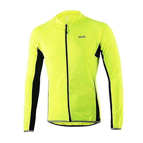 Sunday Mens Breathable Long Sleeve Radfahren Jerseys Radfahren Shirts Fahrrad Tops für Bike, Biker, Fahrrad