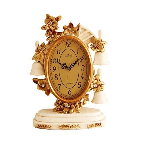 ZHNA Decoración del Reloj de la Sala Reloj Europeo Reloj de Mesa Reloj de péndulo de sobremesa Americano Reloj de casa Sentado en casa (Color : A)