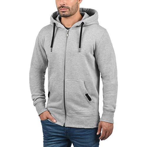 kolila Herren Hoody JKT Slim Fit Kapuzenpullover Männer Einfarbig Langarmshirts Casual Kangaroo Pocket Zipper Hoodie Sweatshirt