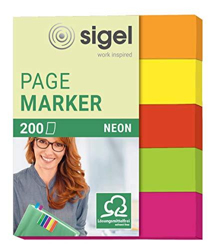 Sigel Neon - Señalizadores de quita y pon, 200 hojas, 12 x...