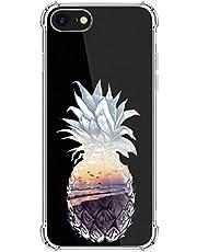 Carcasa de silicona Kinnter compatible con iPhone SE (2020), transparente, ultrafina, TPU, antigolpes, diseño original para iPhone SE (2020)