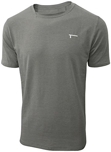 TREN Herren COOL Performance Cotton Stretch SS Tee T-Shirt Kurzarm Dunkelgrau 020 - M