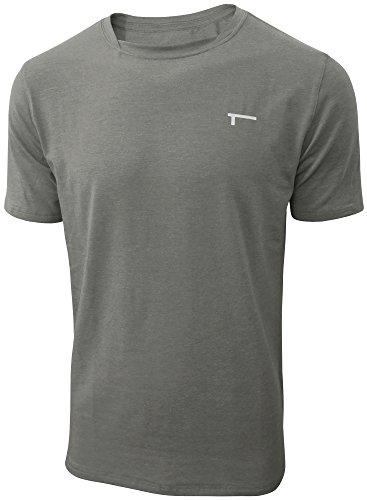 TREN Herren COOL Performance Cotton Stretch SS Tee T-Shirt Kurzarm Dunkelgrau 020 - M