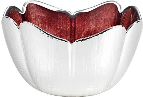 Argenesi Tulipano Bol en Verre 18 x 9.5 cm – Couleur Rouge, Taille Unique