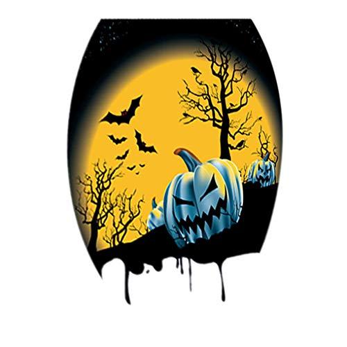 Censhaorme Halloween-Party-Thema Toiletten Aufkleber Adhesive Oval PVC-Aufkleber PVC-Abziehbilder Badezimmer Scary Creepy Dekorationen