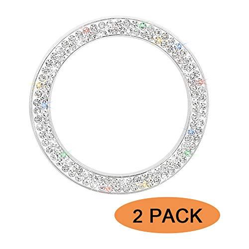 Bling Car Accessories SAVORI - Emblema de cristal con diamantes de imitación para decoración del coche (2 unidades)