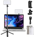 llano RGB Video Light, Video Conference Lighting Kit, 6500K Photography Lighting, with Portable Tripod Stand, Studio Light Shoot, Light for Zoom Meeting, Photoshoot, Broadcast, Video Recording