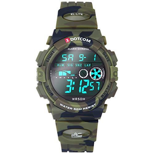 Socico Niños Digital Relojes para Niños Deportes–5 ATM Reloj Deportivo Impermeable al Aire Libre con Alarma Cronómetro,Relojes de Pulsera Electrónicos para Niños. (Camuflaje)