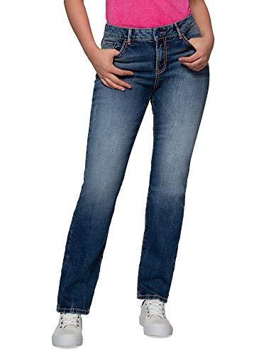 SOCCX Damen Comfort Shape Jeans im Stone Used Look