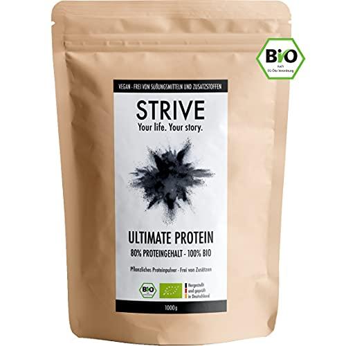 ULTIMATE PROTEIN 100{67e389a133b38880168f9a886fe5d502f615157d0eea91a5c186d8bf595209d7} BIO Vegan - 1 Kg Pflanzliches Bio-Proteinpulver aus Reis, Erbse und Hanf - Frei von Aromen und Süßungsmitteln aus Liebe zum Bizeps - Veganes Eiweiß-Pulver DE-ÖKO-039