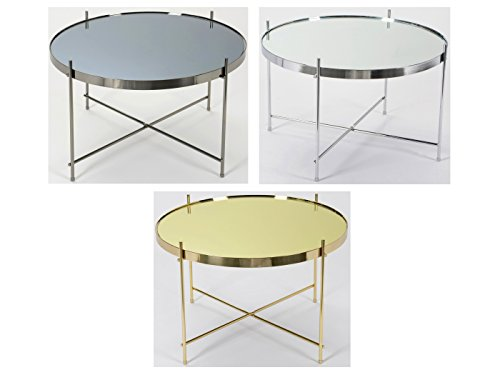 Korb Table Basse Ronde Miroir Couleur Ø63 cm (Gunmetal)