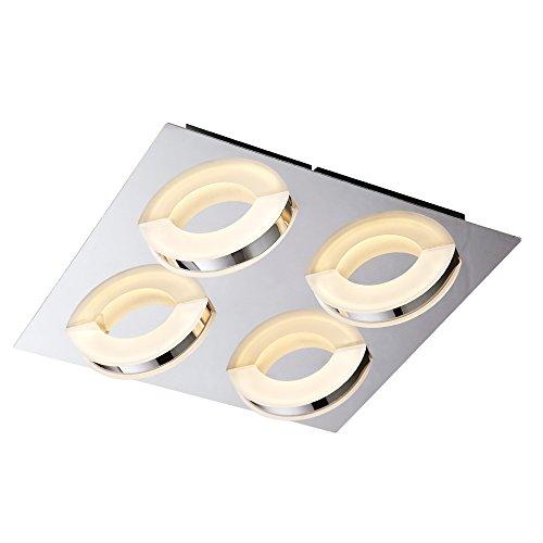 Style home Stylehome LED Dekenlampe X48077 12W Lampada da soffitto 12 W, Chrom