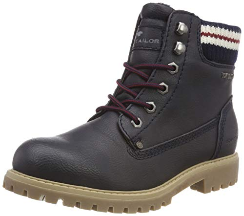 TOM TAILOR Damen 5890103 Stiefeletten, Blau (Navy 00003), 40 EU